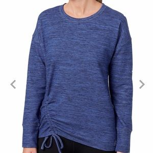 🆕 REEBOK Womens' Cinch Side Blue Crew Sweatshirt
